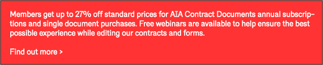 AIA Contract Documents - The Industry     - AIA Potomac Valley
